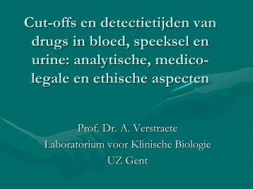 Cut-offs en detectietijden van drugs in bloed, speeksel en ... - GAB