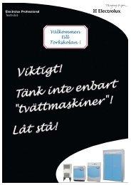 Torkskolan 2008 - Electrolux Laundry Systems