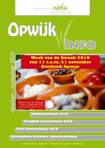 Infoblad oktober 2010 - Opwijk