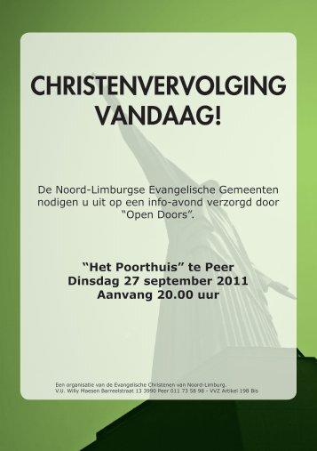 Christenvervolging vandaag!