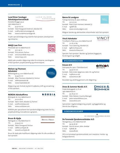 BRANCHE GUIDE - Estate Media