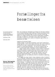 Fortællinger fra besættelsen - Historie-nu.dk