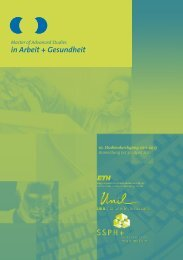 Arbeit + - IST - Institut universitaire romand de Santé au Travail