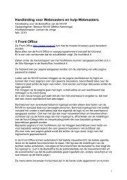 Handleiding voor Webmasters en hulp-Webmasters 1 Front Office