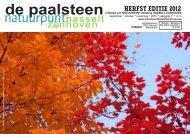 De Paalsteen - Jg. 11 nr. 3 - herfsteditie 2012 - Natuurpunt Hasselt ...
