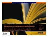 Boekenbranche, Consumentenonderzoek 16-1 - SIOB