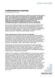 Ledelsesbaseret coaching - MacMann Berg