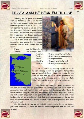 Download een kopie van de prediking hier - Evangelische ...