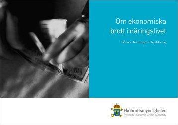 Om ekonomiska brott i näringslivet - Ekobrottsmyndigheten