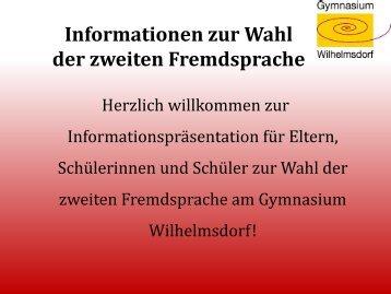 Französisch - Gymnasium Wilhelmsdorf
