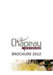 BROCHURE 2012 - Chapeau Catering