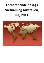 Vietnam og Australien 2011 - University College Sjælland