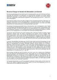 Information des BDSV - mse-Gruppe