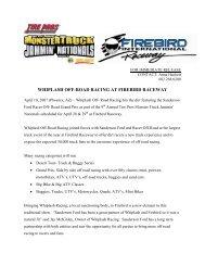 whiplash off-road racing at firebird raceway - Firebird International ...
