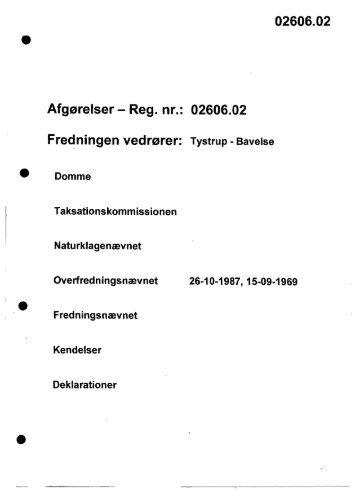 02606.02 Fredningen vedrører - Naturstyrelsen