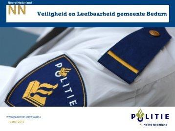 2013 05 16 ABZ politie Presentatie gemeente BEDUM