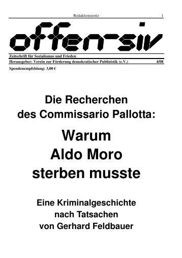Warum Aldo Moro sterben musste - offen-siv