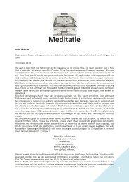 1 Meditatie - Gekrookte Riet