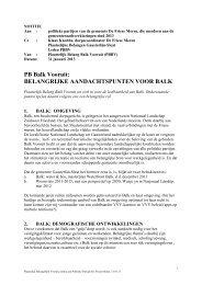 PB Balk Vooruit: BELANGRIJKE AANDACHTSPUNTEN VOOR BALK
