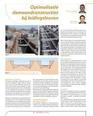 Optimalisatie damwandconstructies bij leidingsleuven - GeoTechniek