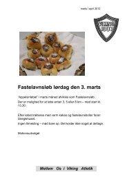Mellem Os i Viking Atletik Fastelavnsløb lørdag den 3. marts