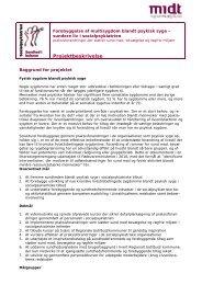 Projektbeskrivelse - CFK Folkesundhed og Kvalitetsudvikling