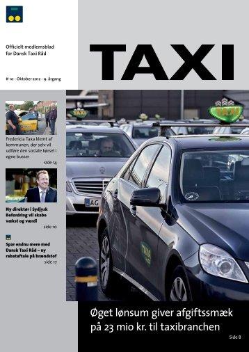 Øget lønsum giver afgiftssmæk på 23 mio kr. til ... - Dansk Taxi Råd