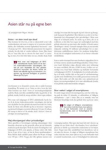 Asien står nu på egne ben - Carnegie WorldWide