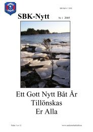 SBK-Nytt 2005.Nr.1 - Sandarne båtklubb