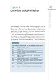 49 Kapitel 3 Organiske psykiske lidelser