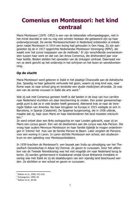 Comenius en Montessori: het kind centraal - kelpin.nl