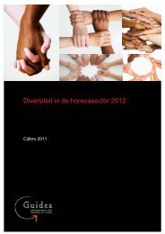Diversiteit in de horecasector 2012 - Guidea
