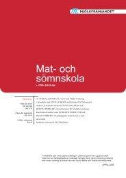 Mat- och sömnskola - Pedagogiska institutionen - Umeå universitet