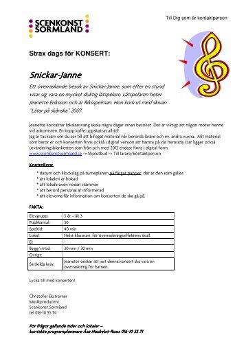 Snickar-Janne - Scenkonst Sörmland