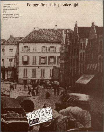 Fotografie uit de pionierstijd