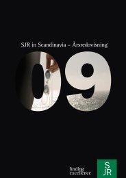 Årsredovisning 2009 - SJR in Scandinavia AB