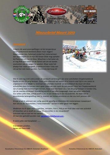 Nieuwsbrief Maart 2013 - Rotterdam Chapter