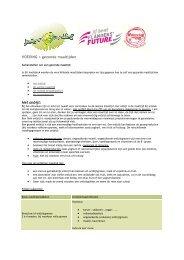 VOEDING > gezonde maaltijden Het onbijt: - Jongeren & Voeding