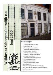 Juni 2010 - Wijkraad Scheepmakersdijk