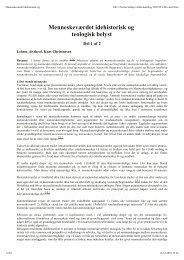 Art1-KurtChristensen-Menneskeværdet idehistorisk og teologisk
