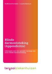 Blinde darmontsteking (Appendicitis) [94kb] - Tergooi