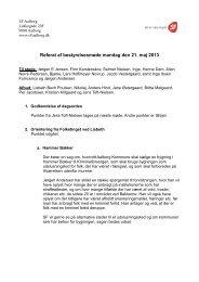Referat af bestyrelsesmøde mandag den 21. maj 2013 - SF
