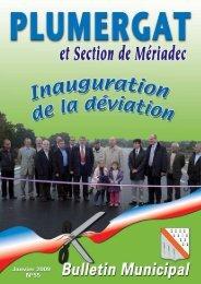 Janvier 2009 - bulletin n° 55 - Mairie de Plumergat