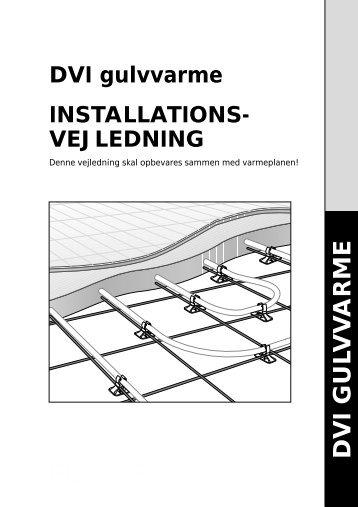 Gulvvarme-installationsvejl - VVS Grossisten