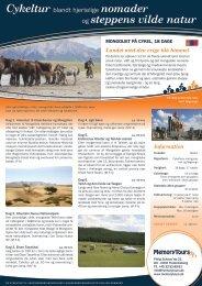 Tur MON-1 18 dage, Mongoliet på cykel - MemoryTours