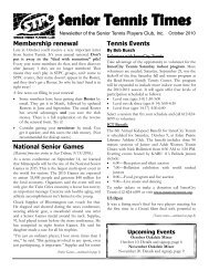 Tennis Events - Senior Tennis Players Club of Minnesota Home