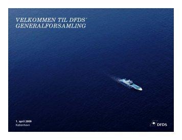 dagsorden - DFDS