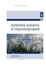 Systematisk evaluering af integrationsprojekter - Københavns ...