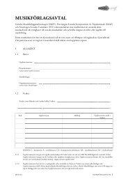 Musikförlagsvtalet på svenska MFA05:4 (Läs/ladda ned Pdf) - FST