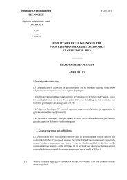 Federale Overheidsdienst FINANCIEN - Unifisc